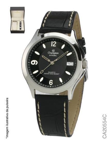 Kit Relógio Analógico Social Masculino Champion Ca20554c
