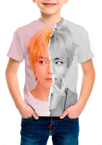 Camiseta Infantil Kpop Bts V - M003