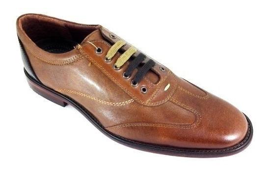 Zapatos Para Hombre Santini V605-02 Piel Vaquetilla Miel