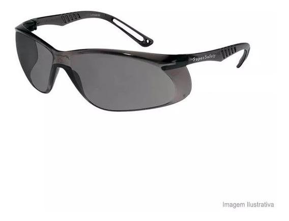 10 Oculos Proteçao Seguranca Escuro Supersafety Fume Ss5