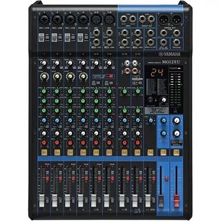 Mesa De Som Yamaha Mg12xu Usb 12 Canais Mixer Com Efeitos