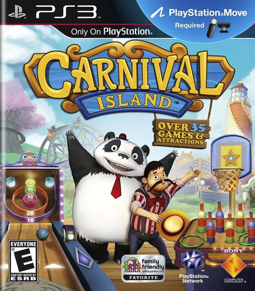 Game Carnival Island Ps3 Blu-ray Mídia Física Lacrado Ps 3