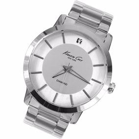 Reloj Kenneth Cole Kc9285 Acero Plata Diamond Series Hombre