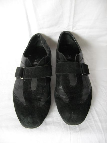 Zapatillas Cristian Nº 39-0 Cuero Y Gamuza