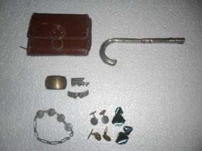 Lote De Antiguidades-abotoadura-carteira-pulseira-+ Ver Desc