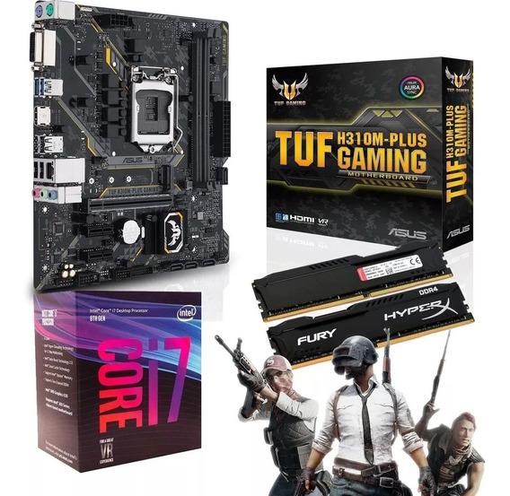 Kit Upgrade Gamer Intel I7-8700 + Asus Tuf H310m + 8gb Ddr4