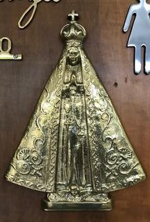 Estampa Nossa Senhora Aparecida Metal 30cm