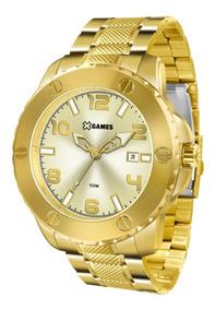 Relógio X-games Masculino Xmgs1026 C2kx Dourado Aço