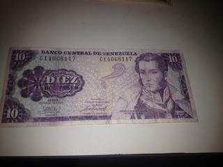 Billetes De Colección De 10 Bs Venezuela