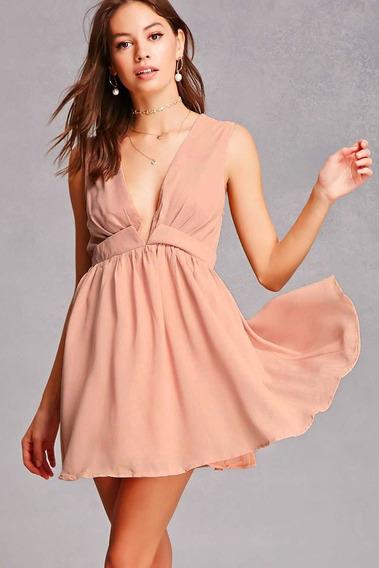 Forever 21 Vestido Importado Selfie Leslie V-neck Mini Dress