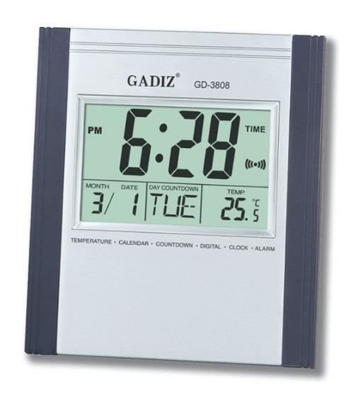 Reloj Digital De Pared Buro Con Alarma Fechador Temperatura