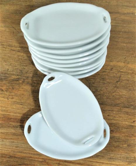 Kit 5 Mini Bandeja Porcelana Porta Anel
