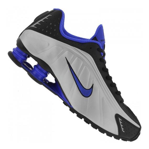 Tênis Nike Shox R4 Prata/azul Original