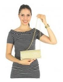 Bolsa Feminina Dourada Clássica Alça Ajustável 059860