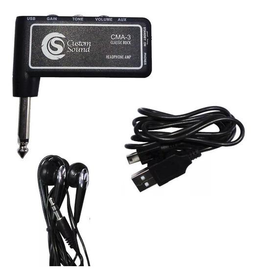 Mini Amplificador Custom Sound Cma3 Para Guitarra