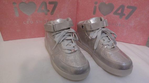 Zapatillas Botitas - 47 Street - Mujer - Plata - 35 Al 40
