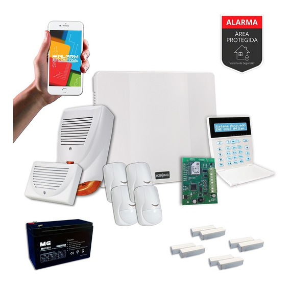 Alarma Domiciliaria Wifi Con Sensor Magnético Kit - Cableado