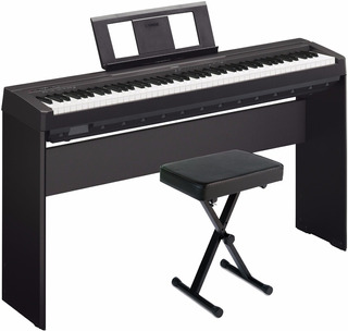 Piano Yamaha P45 En Combo Con Mueble + Pedal + Usb Citimusic