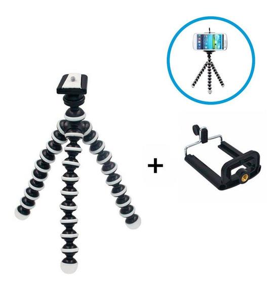 Mini Tripé Flexível Câmera Celular Suporte Universal Gorila