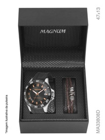 Relógio De Luxo Magnum Masculino Ma33808d +pulseira Original