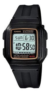 Reloj Hombre Casio F-201wa-9a Negro Digital / Lhua Store