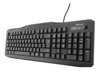 Teclado Pc Trust Classicline Keyboard Resistente Al Agua