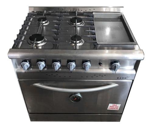 Cocina Industral Saho Jitaku 820 Grill 4 Hornallas Y Plancha