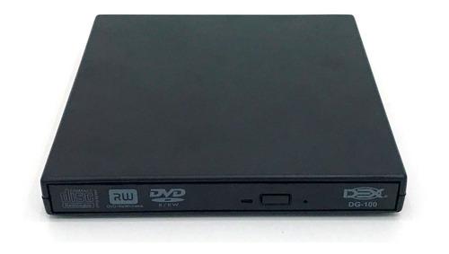 Gravador Externo Slim Usb Portátil Leitor Cd / Dvd