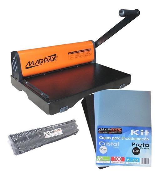 Kit Encadernadora Pmx-15 + Capas E Espirais 09mm