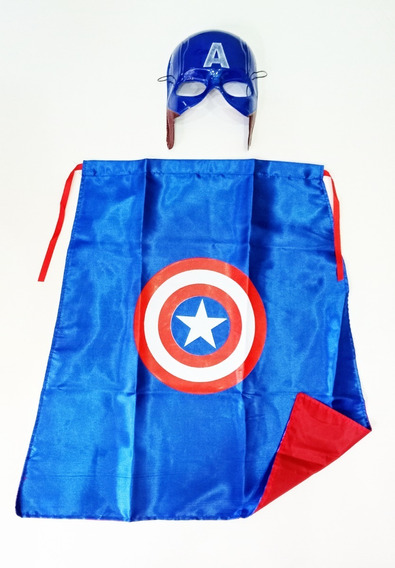 Kit Disfraz Superheroe Capitan America