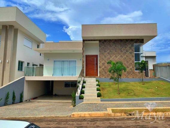 Casa 3 Suítes + Escritório, 250 M² C/ Lazer No Condomínio Mirante Do Lago - Ca0143