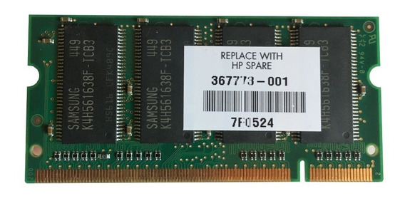 Memoria Sodimm Ddr 256mb 333mhz Pc2700s Para Notebook