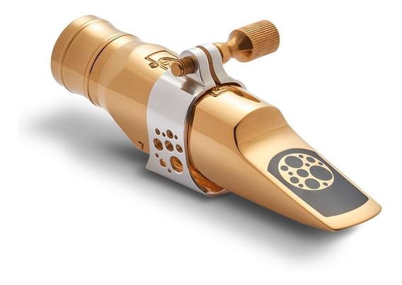 Boquilha Everton Strenght Gold 7 Sax Alto Completa + Estojo