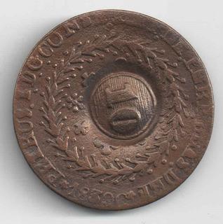 40 Reis 1830 C Cuiaba Com Carimbo 10 Reis Mato Grosso Rara