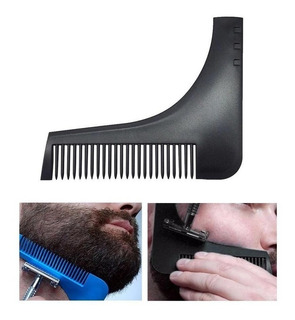 Peine Para Barba Bigote Barbería Escuadra Afeitado Perfecto