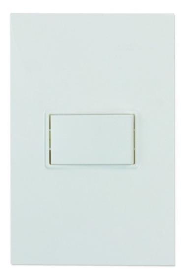 Placa + 1 Interruptor Sencillos 2 Vías