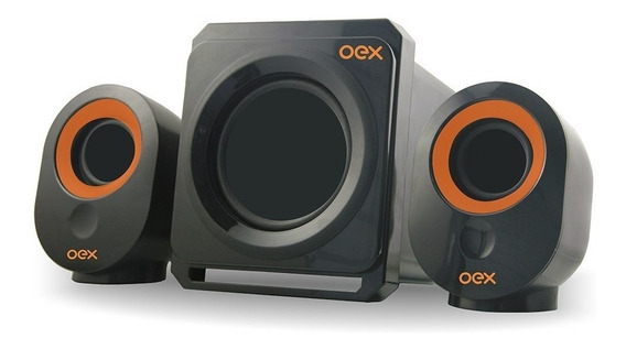 Caixa De Som Sk-500 Speakers Booster 30 W Subwoofer 2.1 Oex