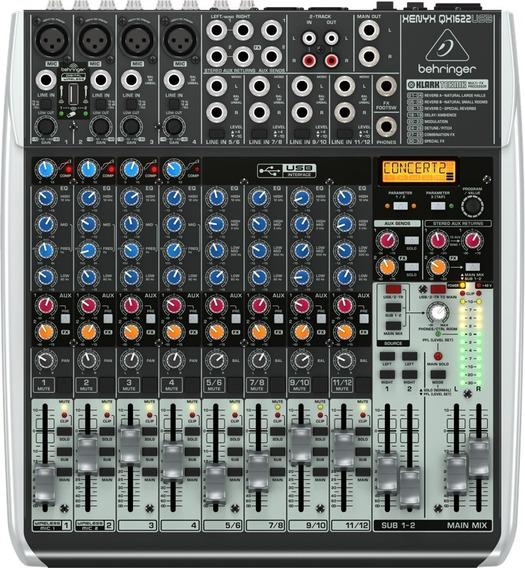 Mixer Com 16 Canais Bivolt Qx1622usb Behringer Nfe