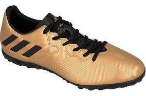 adidas Chuteira Messi 16.4 Tf Dourado Preto - Original - Fq