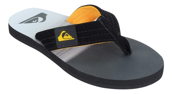 Chinelo Quiksilver Foundation Stripes Laranja