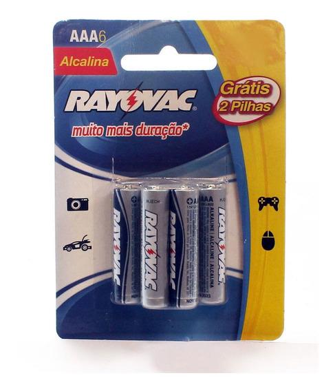 Kit C/ 5 Pilha Rayovac Alcalina Aaa Palmolive Sm L6p4 1x