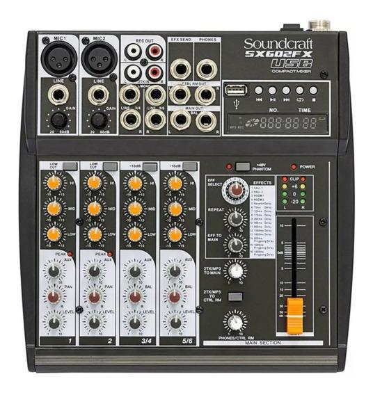 Mesa De Som Soundcraft Sx 602 Fx Usb Analógico Sx-602