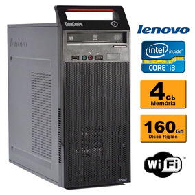 Cpu Lenovo Edge 73 Torre Intel Core I3 4ª 4gb 160gb Dvd Wifi