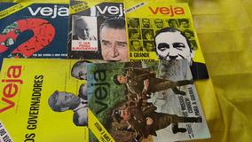 Veja Nºs 50,53,55, 56, 86 Ano 69 E 1970 Lote Com 5 Revistas