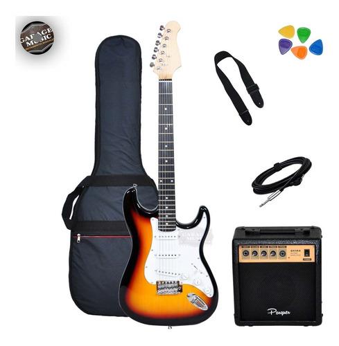 Guitarra Eléctrica Stratocaster Strato Amplificador G10w Cd