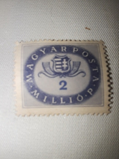 Estampilla Húngara Magyar Posta Millió P