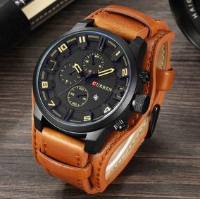 Relógio Masculino Curren 8225 - Couro Genuíno - Original