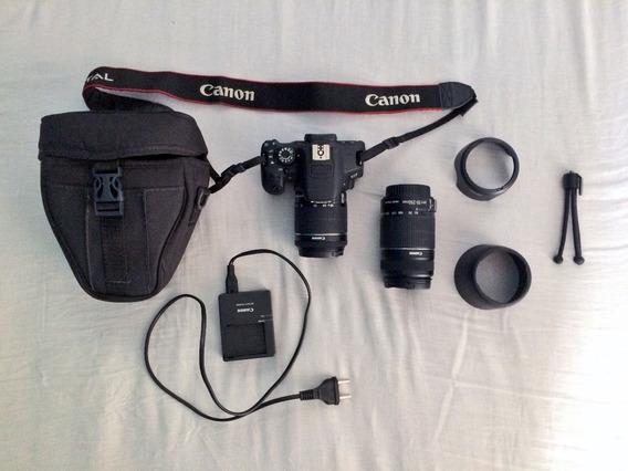 Camera Canon T5i + Lente 18-55 + Lente 55-250 + Outros Itens