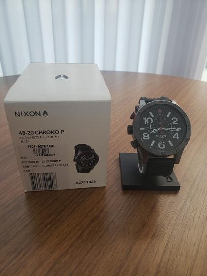 Relógio Nixon 48-20 The Chrono Gunmetal Black