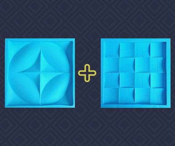 Super Kit 2 Moldes Grandes Para Placa Gesso 3d